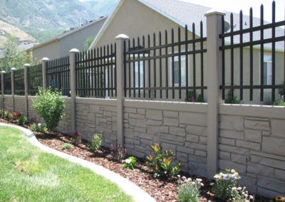 Brown Granite Fence Style