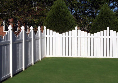 SEMI-PRIVACY SCALLOP FENCE